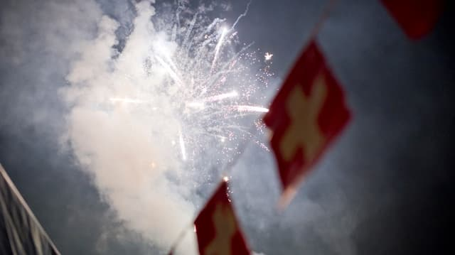 In der Zentralschweiz darf man den 1. August mit Feuerwerk feiern.