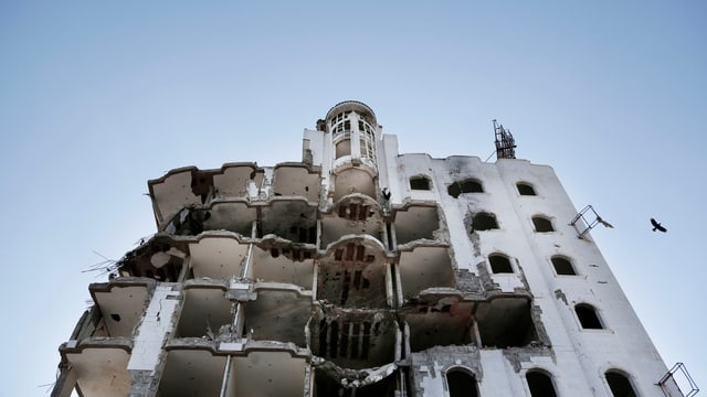 Zerbombtes Gebäude