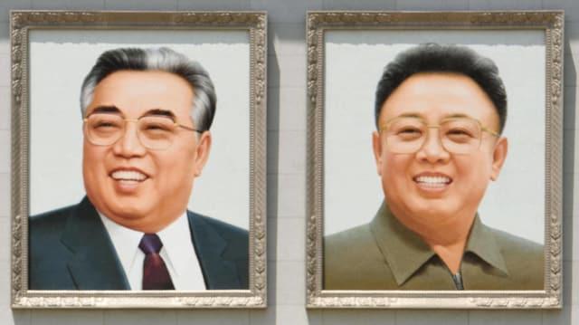 Porträtbilder der beiden Kims.