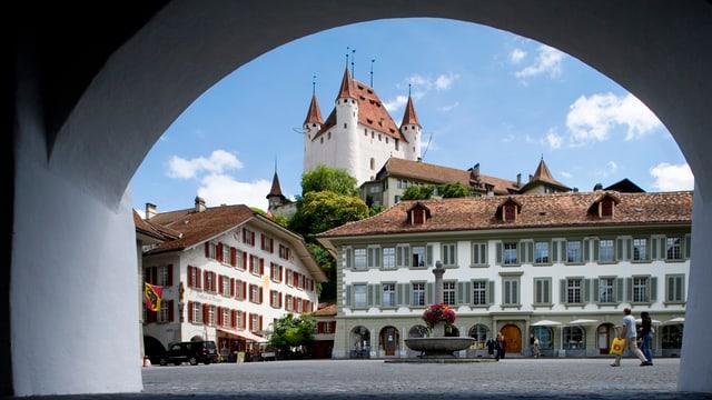 Blick auf das Schloss Thun