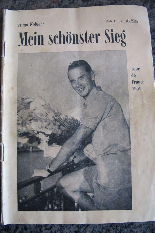 Ein altes Heft aus dem Jahr 1951 mit Hugo Koblet.