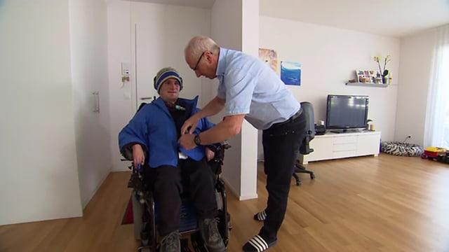 Andreas Bucher mit seinem Vater
