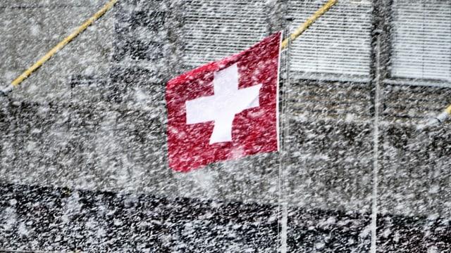 Riesige Schneeflocken gingen am 19. April in Thun nieder.