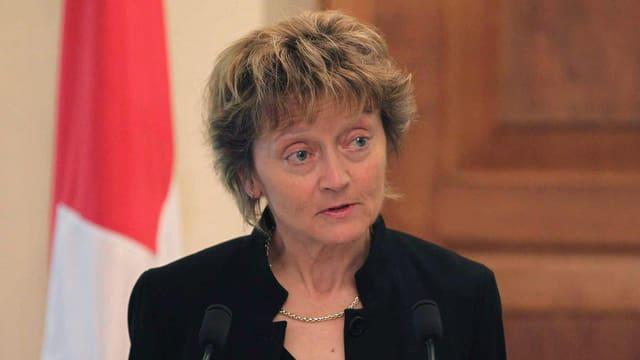 Bundespräsidentin Eveline Widmer-Schlumpf fühlt mit.