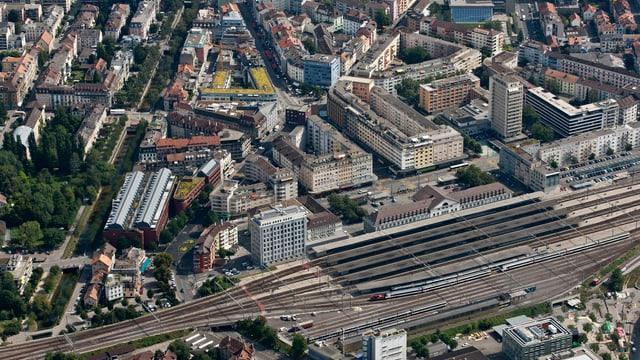 Der Bieler Bahnhof
