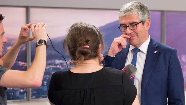 Parolini, Regierungsrat im Gespräch