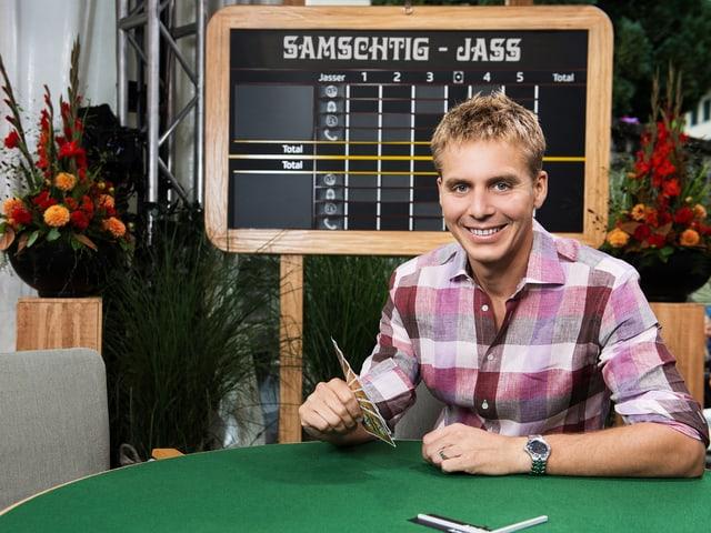 Reto Scherrer - der neue Moderator des «Samschtig-Jass»