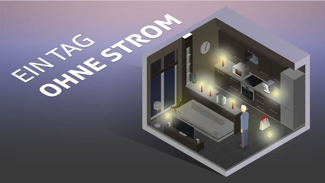 Infografik: 1 Tag ohne Strom