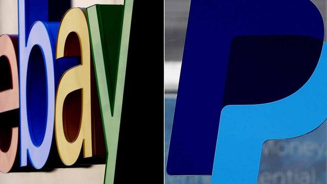 Die Logos von Ebay und Paypal.