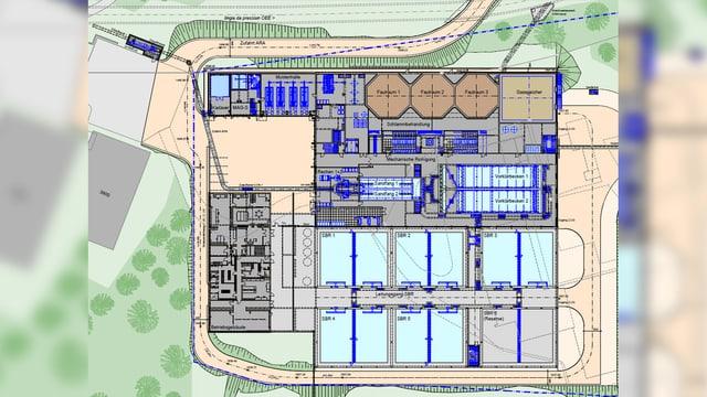 Plan da fabricat final da la serenera ARO 2020 a S-chanf.