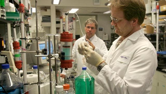 Zwei Laboranten an der Arbeit im Labor