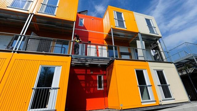 Containersiedlung für Asylsuchende in Zürich-Seebach