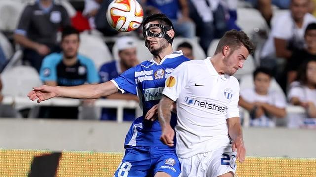 In Nikosia tauchten Marco Schönbächler (rechts) und der FCZ gegen Limassol.