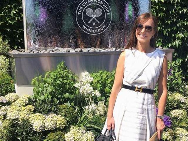 Kevin Andersons Ehefrau Kelsey.