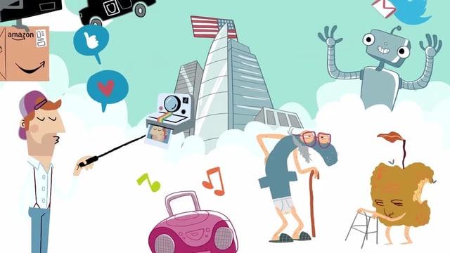 Illustrationen von Start Ups, Neuen Medien und Robotern