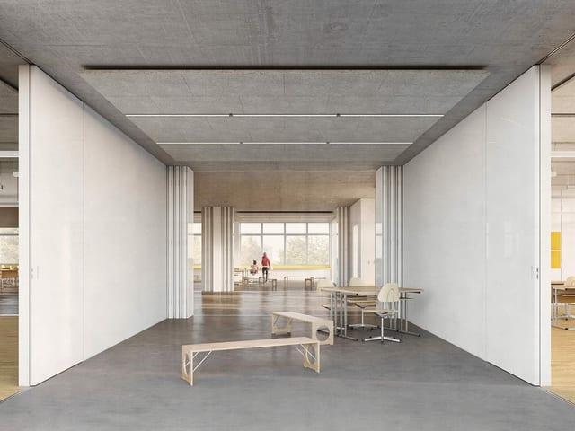 Das geplante Schulhaus