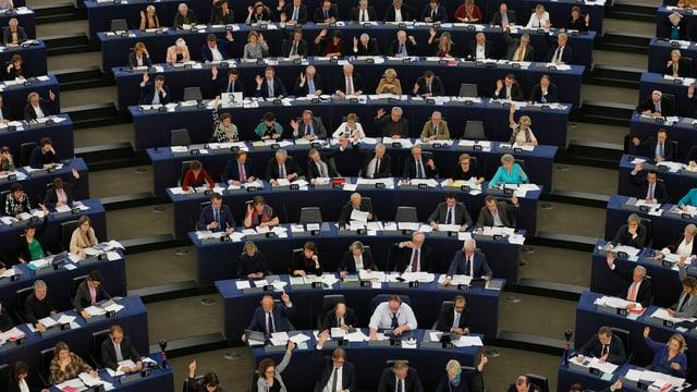 Szene aus dem Europäischen Parlament