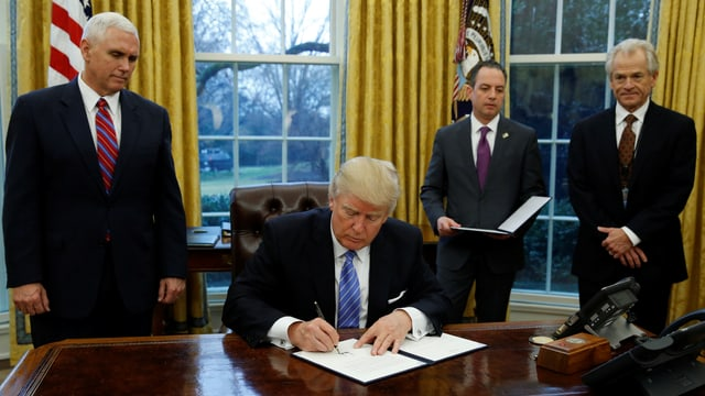 Trump unterzeichnet Anordnung
