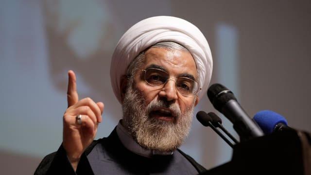 Il president iranais Hassan Ruhani.