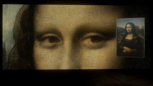 Ein virtuelles Bild der Mona Lisa.