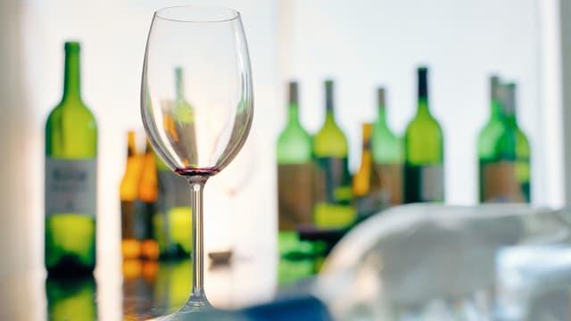 Leere Alkoholflaschen