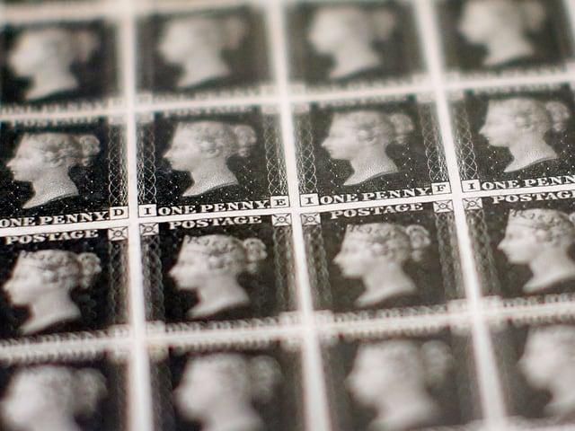 Briefmarken von Queen Victoria.