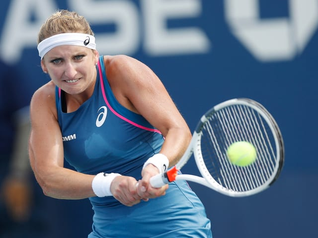 Timea Bacsinszky beim Tennis