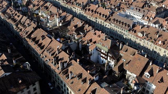Die Berner Altstadt von oben.