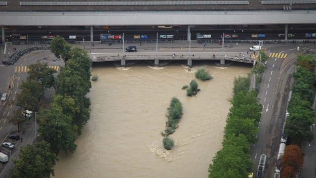 Hochwasser Sihl