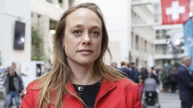 Carole-Anne Kast von der Parteileitung der SP Genf.