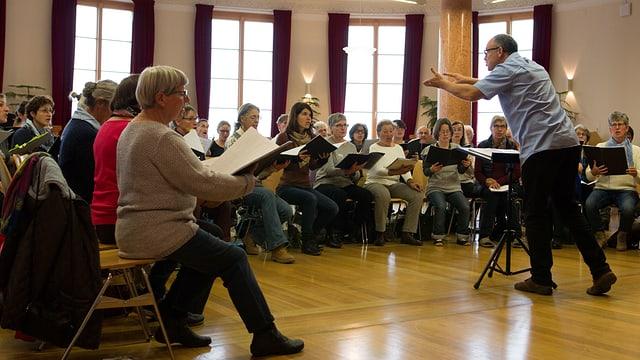 Ils cors unids che fan prova a Ftan al Institut Otalpin