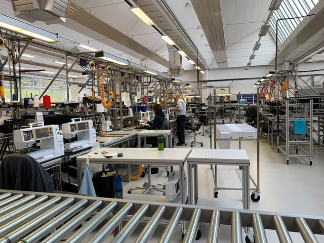 Bernina produziert in Steckborn rund 10 Prozent aller eigenen Maschinen.
