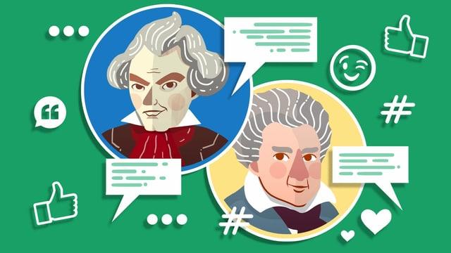 Illustration von Beethoven und seinem Bruder Kaspar