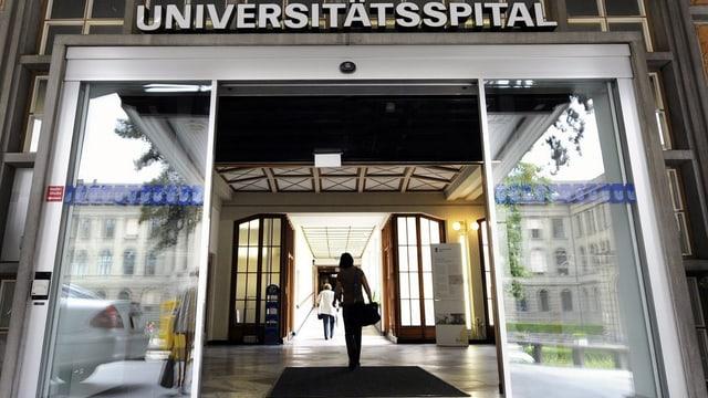 Der Haupteingang des Zürcher Universitätsspitals.