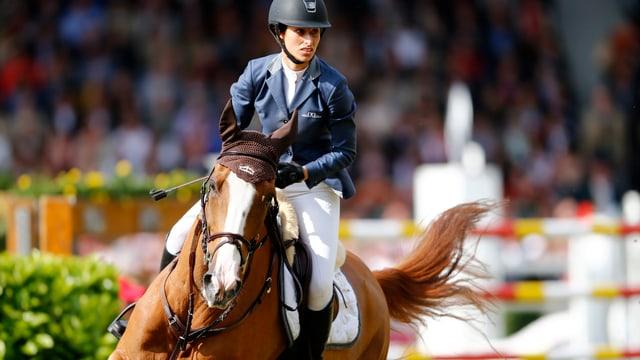 Bei CHIO Aachen belegte Janika Sprunger mit Palloubet im Juni den 2. Rang.
