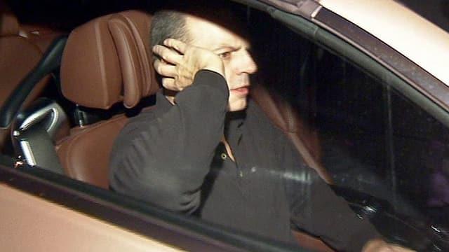 Reemtsma-Entführer Thomas Drach in einem Auto nach dem Verlassen des Hamburger Gefängnisses