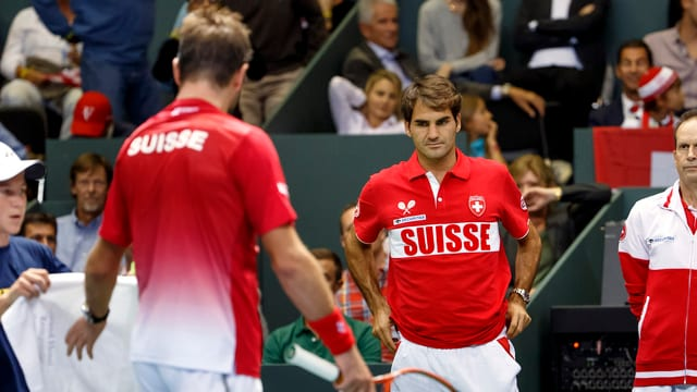 Stan Wawrinka und Roger Federer