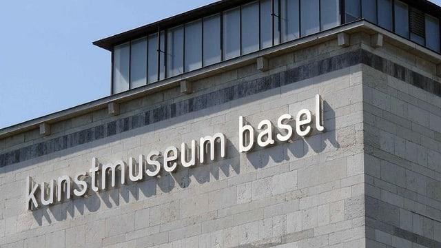 Schriftzug Kunstmuseum Basel