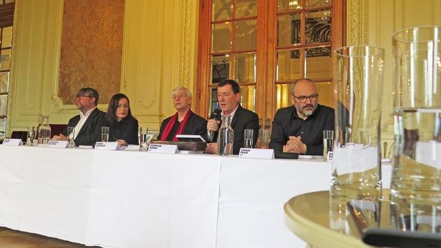 Xavier Zuber, Estefania Miranda, Mario Venzago, Stephan Märki und Cihan Inan.