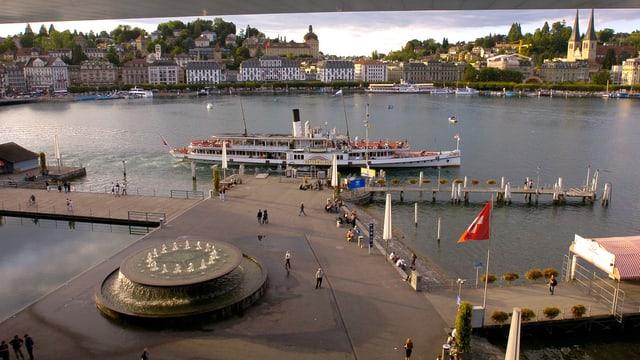 Der Europaplatz in Luzern aus der Vogelperspektive.