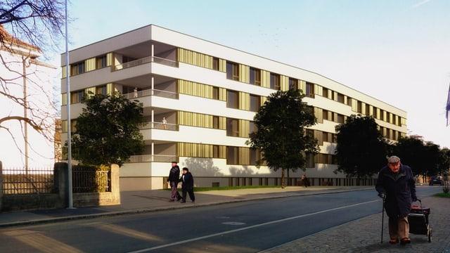 Visualisierung des geplanten mehrstöckigen Gebäudes.