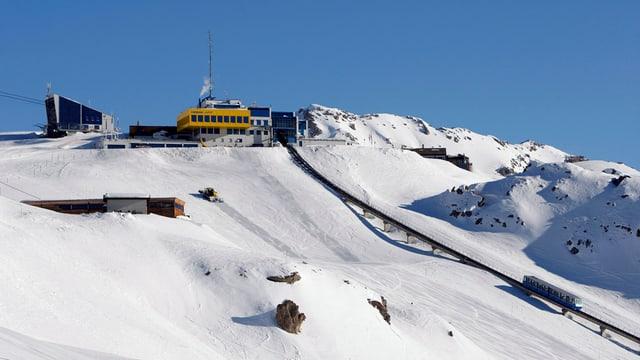 Schnee und Bahn