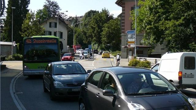 Dichter Verkehr in Burgdorf.