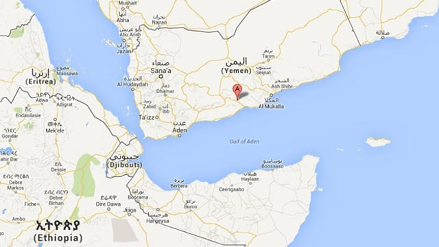 Eine Karte von Jemen.