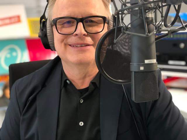 Herbert Grönemeyer im Radiostudio.