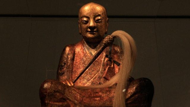 Eine goldene Buddha-Statue