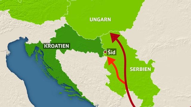 Mit der Schliessung der serbisch-ungarischen Grenzen wird zwangsläufig Kroatien neues Transitland.