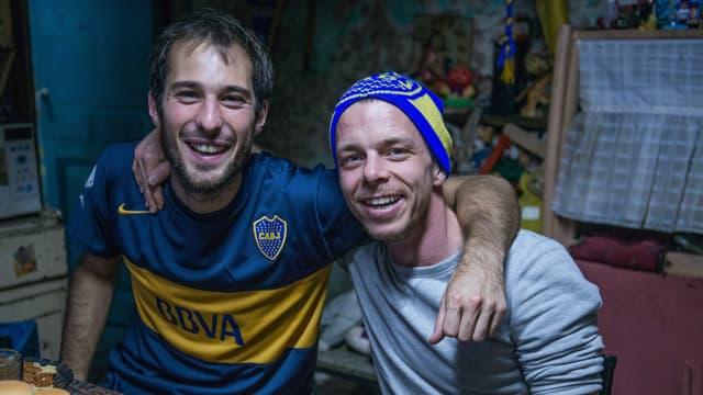 Filmemacher Matteo Gariglio (links) und Kameramann Andi Widmer in Argentinien.