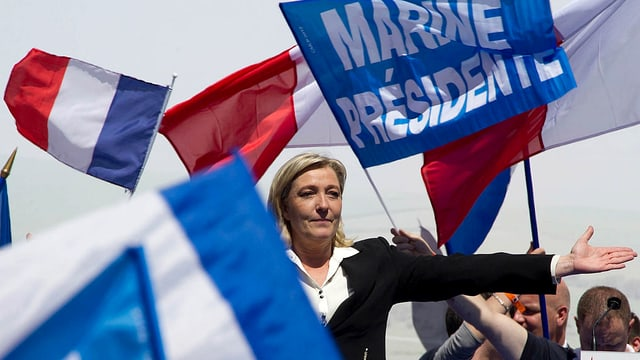 Marine Le Pen bei einer Wahlveranstaltung.