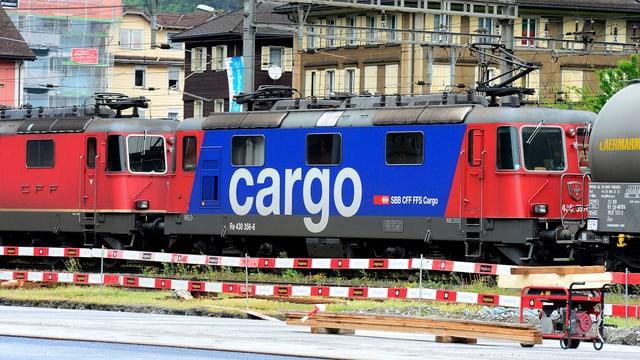 Cargo-Zug in der Schweiz.